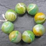 Set of 8 Clay Round Beads G..